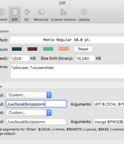 PhpStorm as diff tool in Sourcetree